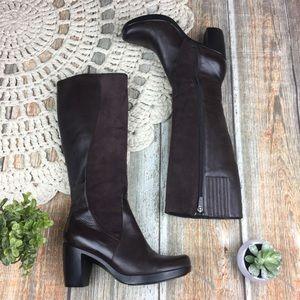 Dansko   Comfort Heeled Knee High Leather Boots